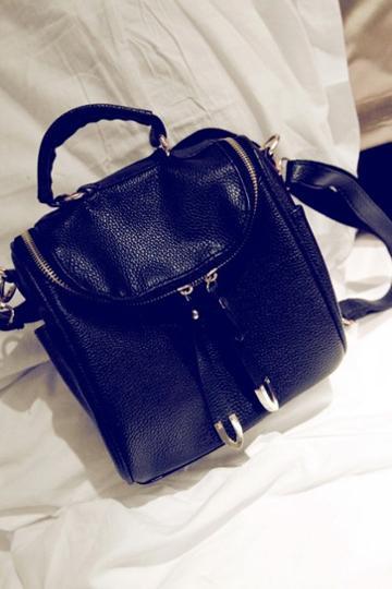 Oasap Street Fashion Mock Fold Over Design Shoulder Bag