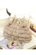 Oasap Tassels Head Plush Duffel Bag