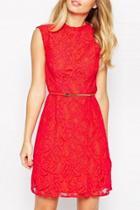 Oasap Elegant Solid Shift Mini Dress