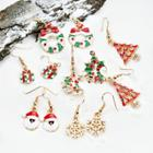 Oasap Christmas Sequins Decoration Lovely Earrings