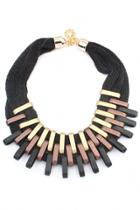 Oasap Wild Piping Statement Necklace