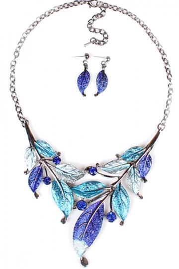 Oasap Vintage Foliage Necklace