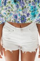Oasap Hot Floral Decoration Denim Woman Shorts