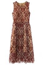 Oasap Floral Print Asymmetric Hem Sleeveless Dress