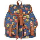 Oasap Lovely Owls Printed Shoulder Bag