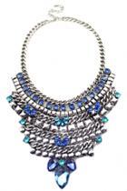 Oasap Vintage Pendant Faux Diamond Necklace