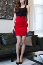 Oasap High Waist Zipped Mini Skirt