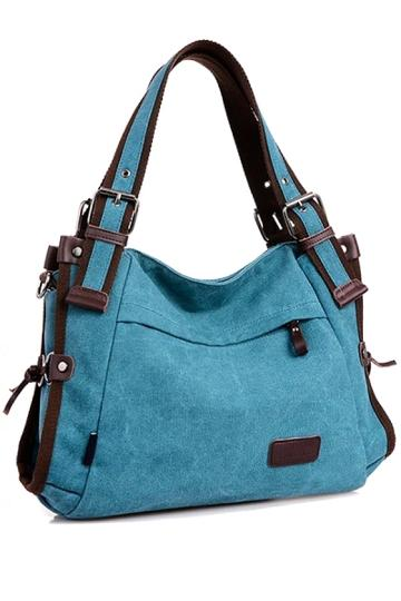Oasap Buckled Canvas Bag