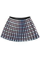 Oasap Plaid Pleated Skirt