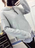 Oasap Long Sleeve Splicing Pullover Hoodie