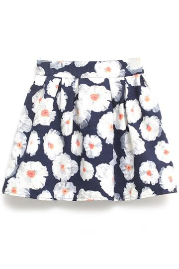 Oasap White Floral Skirt