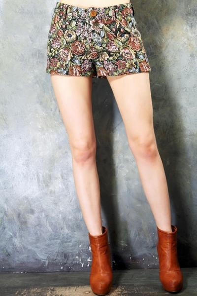 Oasap Floral Print Shorts