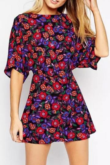 Oasap Fabulous Floral Print Rompers