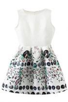Oasap Jacquard Floral Textured Sleeveless Mini Dress