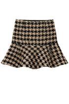 Oasap Flounce Houndstooth Skirt