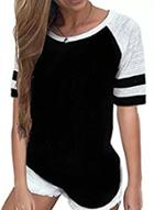 Oasap Casual Color Blocked Round Neck Short Sleeve Tee Shirt