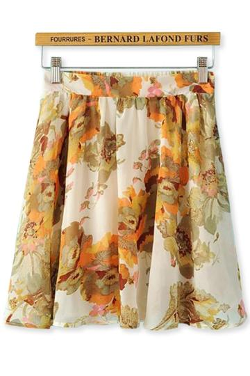 Oasap Superb Floral Skirt