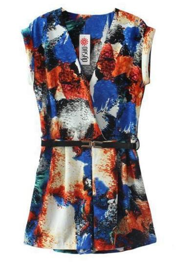 Oasap Sexy Colorful Floral Rompers