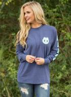 Oasap Fashion Long Sleeve Letter Print Pullover Tee
