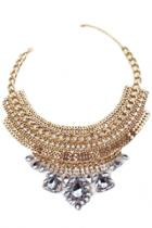 Oasap Gorgeous Multi Strand Pendant Hollow Out Necklace