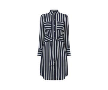Oasis Long Stripe Shirt Dress