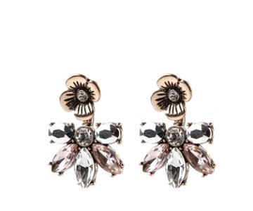 Oasis Flower Front Back Earrings