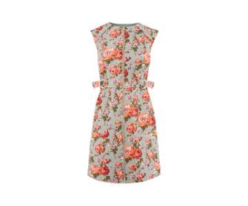 Oasis Rose Texture Shift Dress