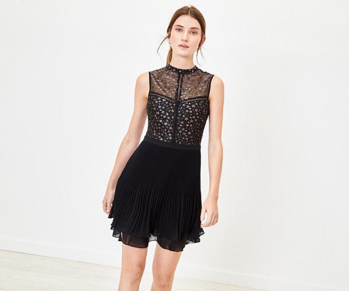 Oasis Star Pleated Dress