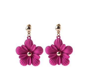 Oasis Fuschia Flower Drop Earrings