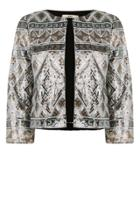 Oasis Aztec Sequin Jacket