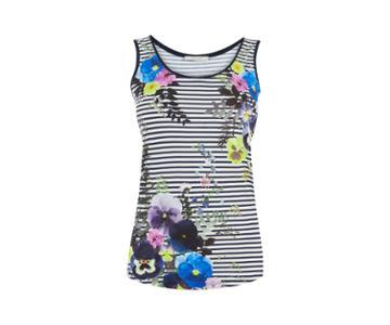 Oasis Flower Press Stripe Vest