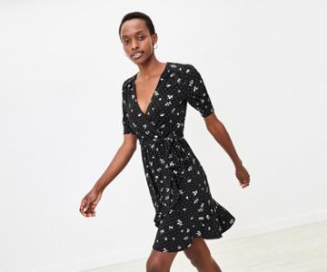 Oasis Floral Wrap Dress