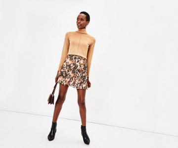 Oasis Smudge Print Mini Skirt