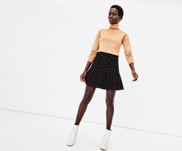Oasis Sofia Spot Knitted Skirt