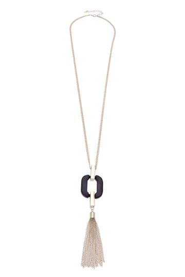 Oasis Resin Rectangle Long Necklace