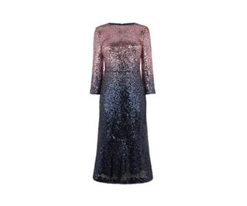 Oasis Ombre Sequin Midi Dress