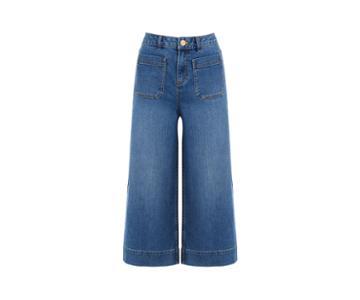 Oasis Crop Wide Leg Jeans