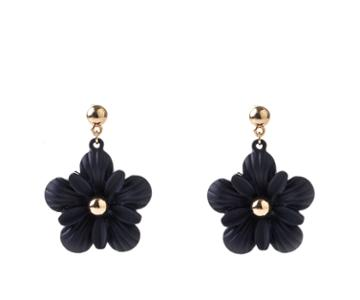 Oasis Navy Flower Drop Earrings
