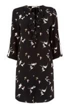 Oasis Bird Frill Front Dress
