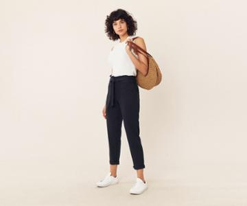 Oasis Paperbag Peg Trousers