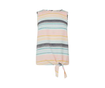 Oasis Stripe Tie Shell Top