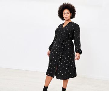 Oasis Curve Petal Shirt Dress