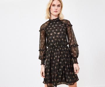 Oasis Foil Burst Blouse Dress