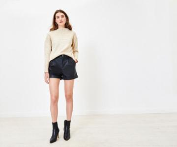 Oasis Faux Leather Shorts