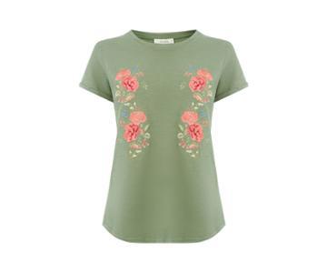 Oasis Pandora Bloom Embroidered Tee