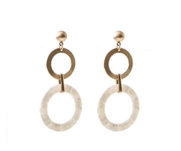 Oasis Resin Hoop Earrings