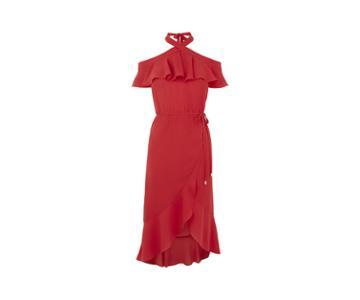 Oasis Plain Halter Bardot Dress