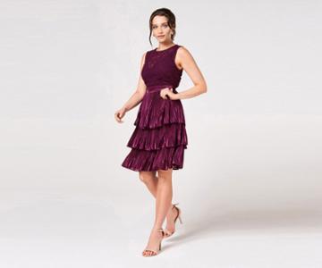 Oasis Crochet Tiered Dress
