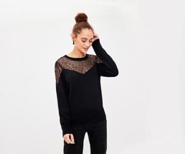 Oasis Star Lace Knit Jumper