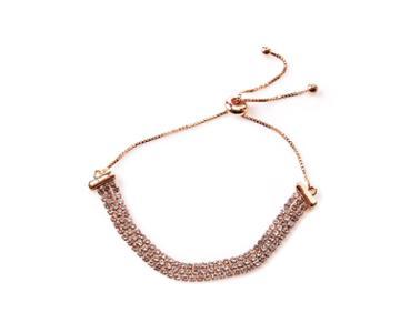 Oasis Crystal Chain Slider Bracelet